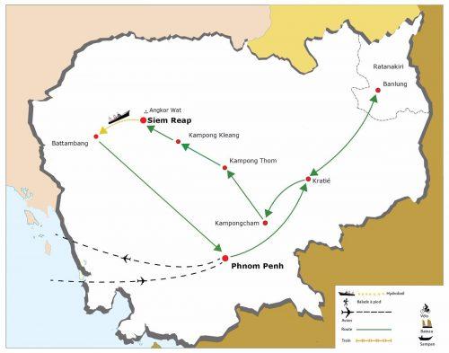 circuit-terre-sauvage-du-cambodge-carte