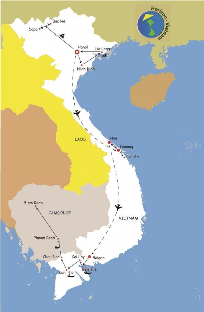 CIRCUIT VIETNAM CAMBODGE EN 3 SEMAINES